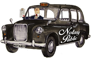 Notary visit by car