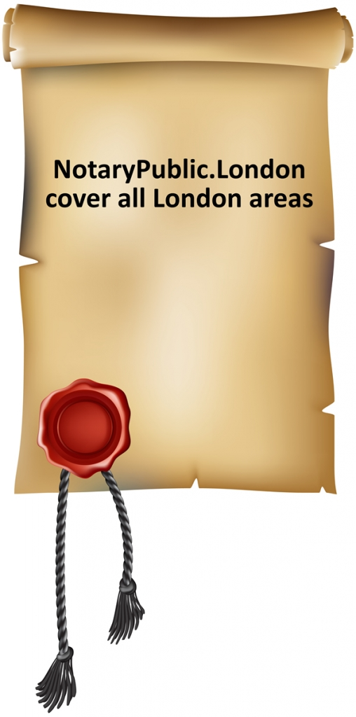 Notary Public London cover all London areas and can see you at your home, workplace or office.